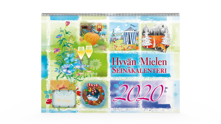 Positiivarit - Hyvän Mielen Seinäkalenteri 2020