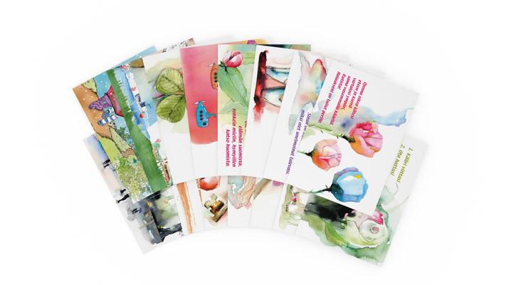 Positiivarit - Hyvän Mielen kiiltopostikortit 15kpl