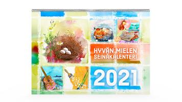 Positiivarit - Hyvän Mielen Seinäkalenteri 2021