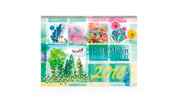 Positiivarit - Hyvän Mielen Seinäkalenteri 2018