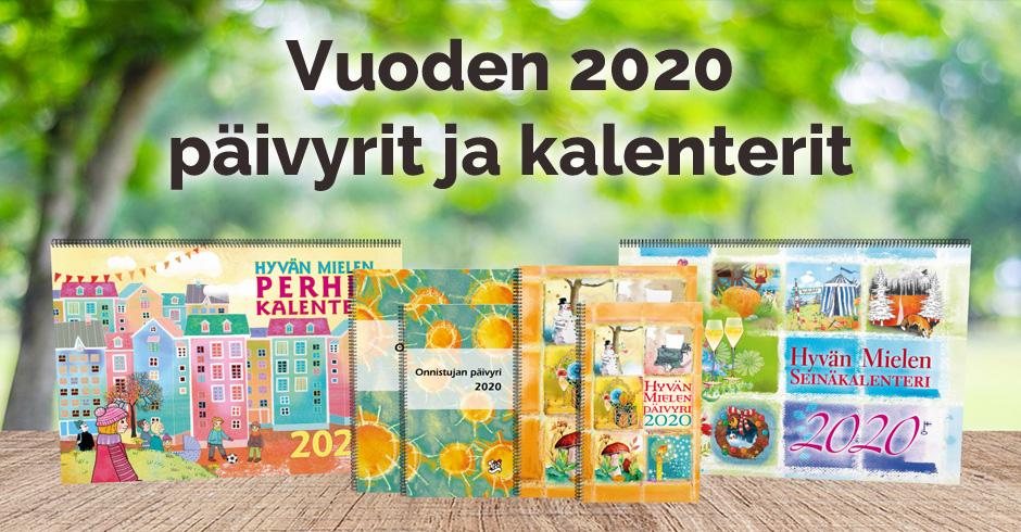 Vuoden 2020 päivyrit ja kalenterit