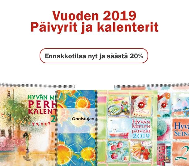 Vuoden 2019 päivyrit ja kalenterit